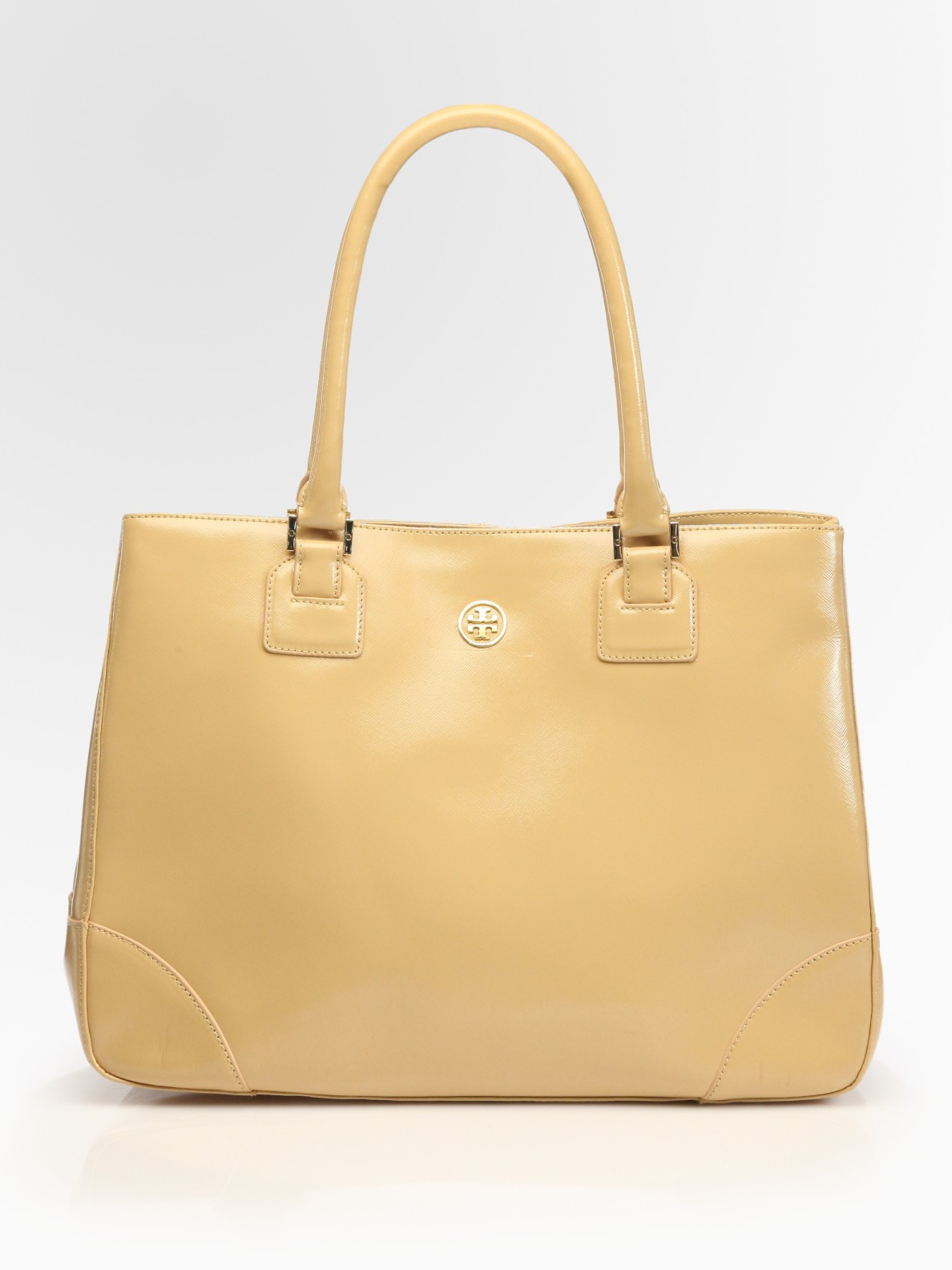 7452f4ab432c Lyst - Tory Burch Robinson East-to-west Tote Bag in Natural