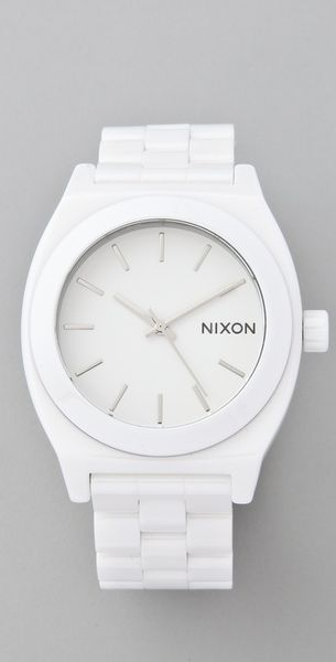 Nixon The Ceramic Time Teller in White - Lyst