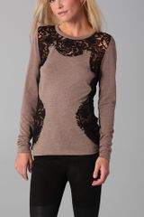 Torn By Ronny Kobo Caitlin Long Sleeve Top - Lyst