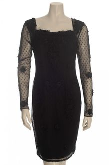 Alice By Temperley Lace-appliqued Tulle Dress in Black - Lyst