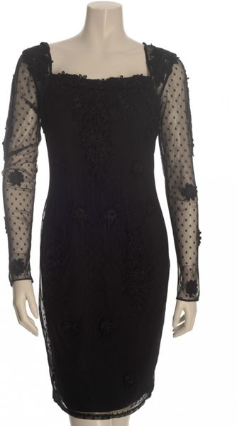 Alice By Temperley Laceappliqued Tulle Dress in Black in Black - Lyst