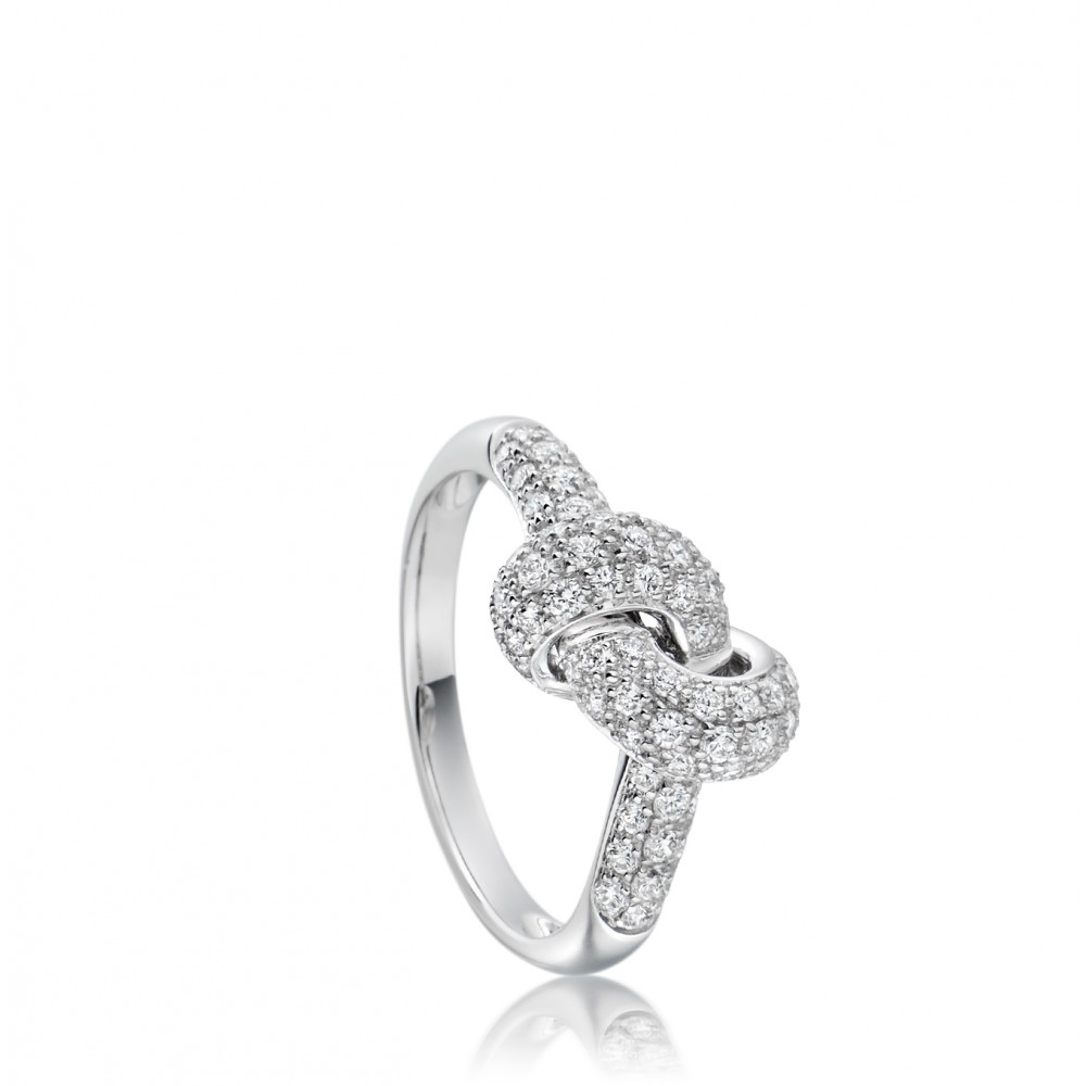 Finest Lyst - Astley Clarke Love Knot Diamond Ring in White NV73