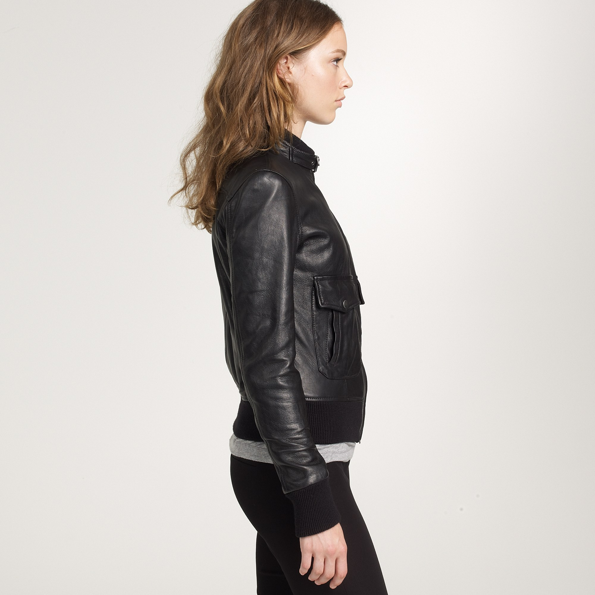 womens belstaff leather bomber jacket