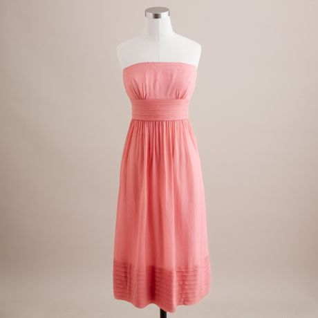 J.crew Juliet Dress in Silk Chiffon in Pink (bright coral) - Lyst