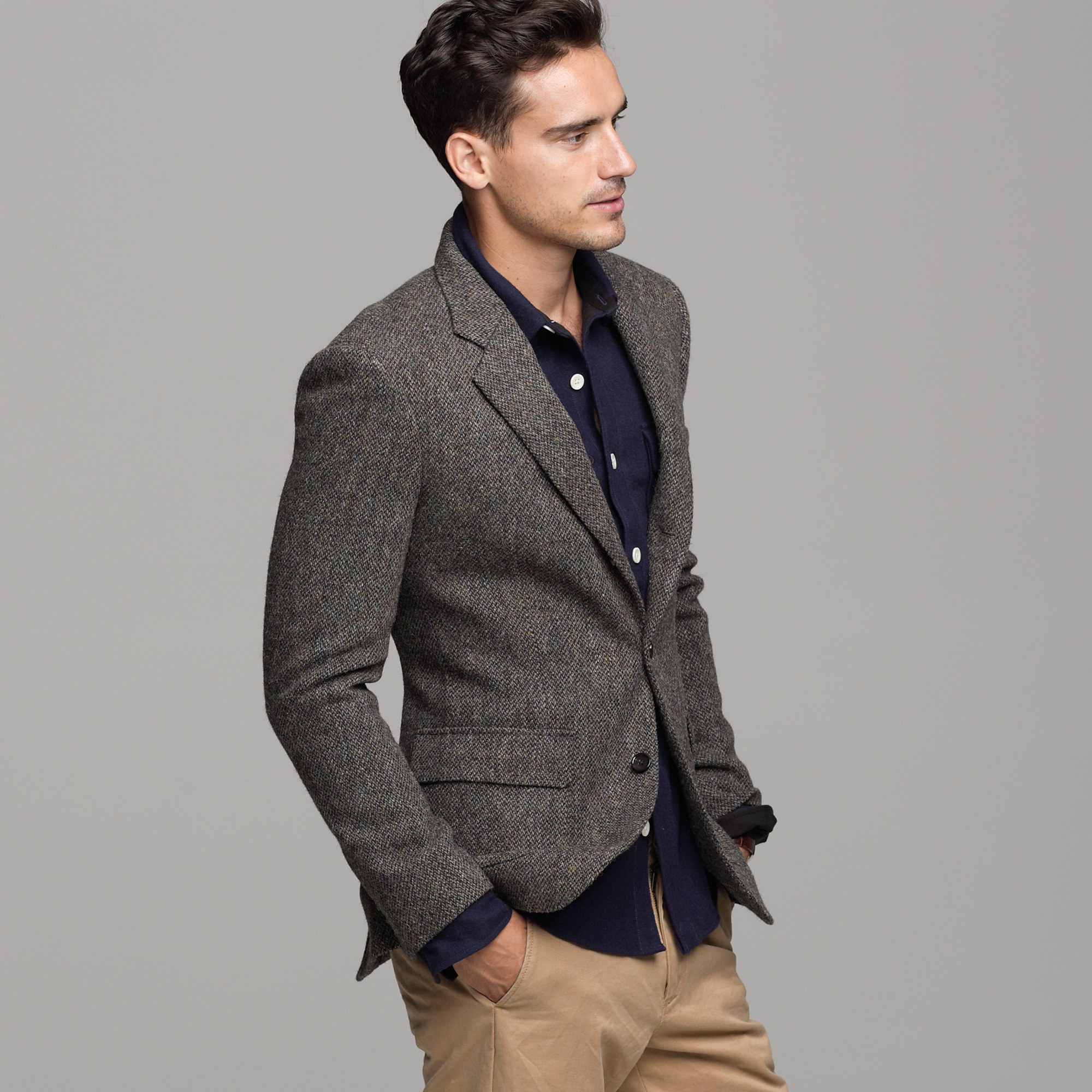 J.crew Harris Tweed Sportcoat in Ludlow Fit in Brown for Men | Lyst