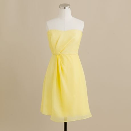 J.crew Leona Dress in Silk Chiffon in Yellow (frosted citrus) - Lyst