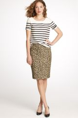 J.Crew No. 2 Pencil Skirt in Leopard - Lyst