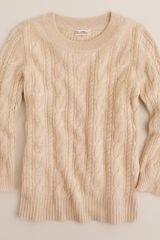 J.Crew Cashmere Cable Sweater - Lyst