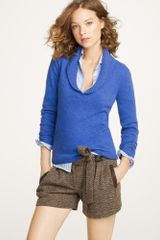 J.Crew Cashmere Shawl-collar Sweater - Lyst