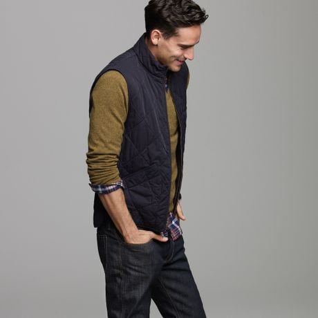 J Crew Broadmoor Quilted Vest In Blue For Men Navy Lyst
