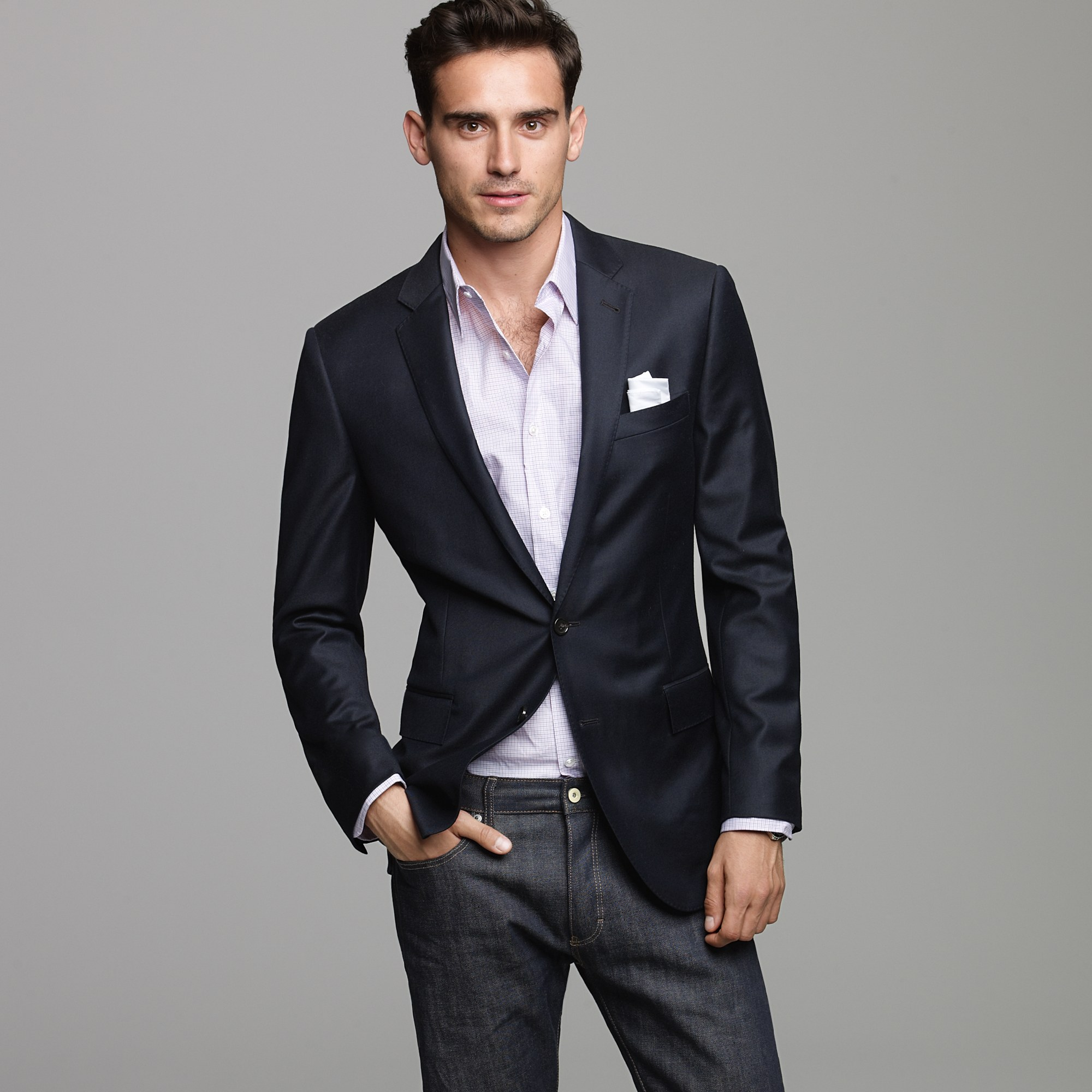 J.crew Ludlow Two-button Blazer With Double-vented Back In Blue For Men | Lyst