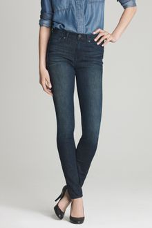 J.Crew High-waisted Skinny Jean in Night Owl Wash - Lyst