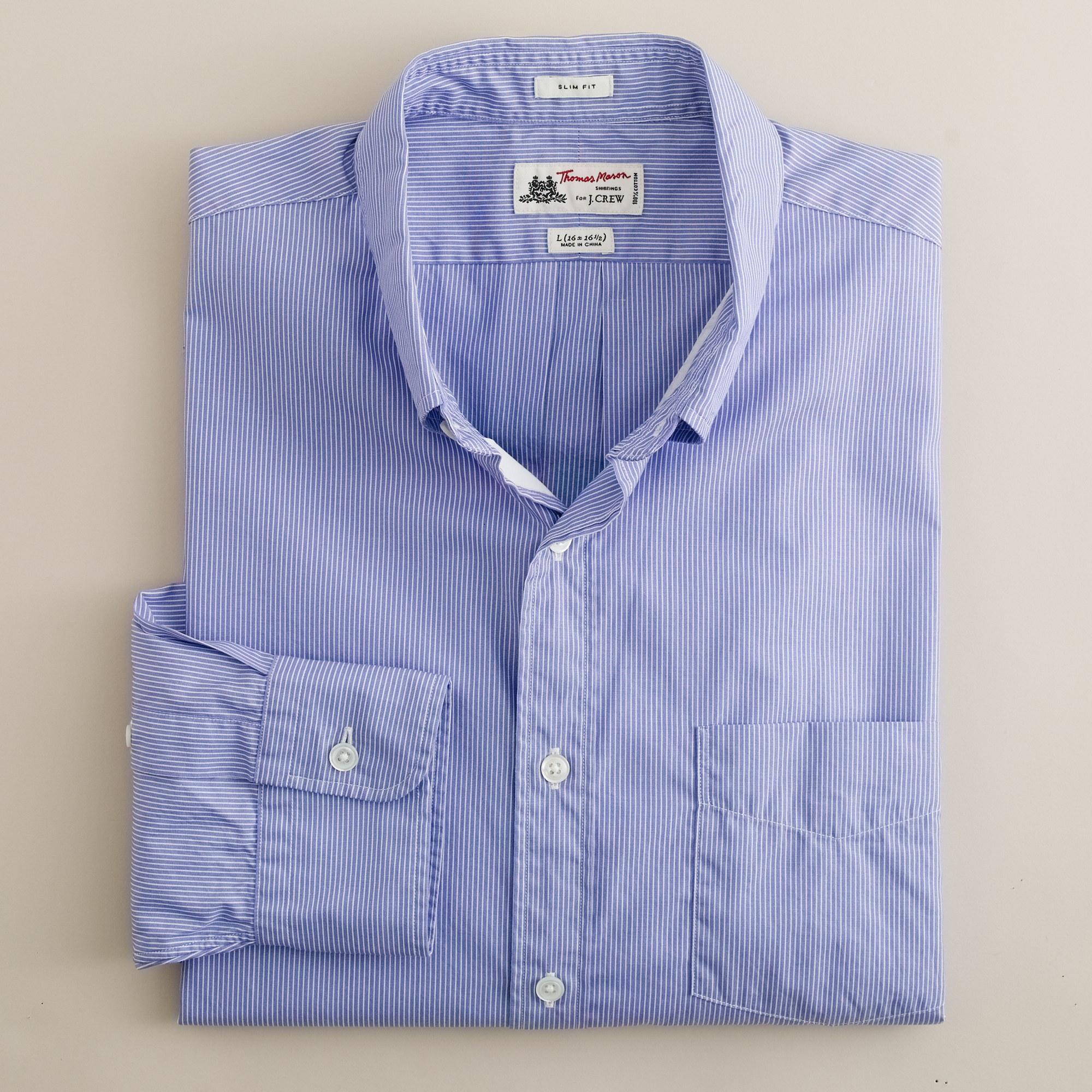 Washed thomas mason fabric button down slim fit for Thomas mason dress shirts