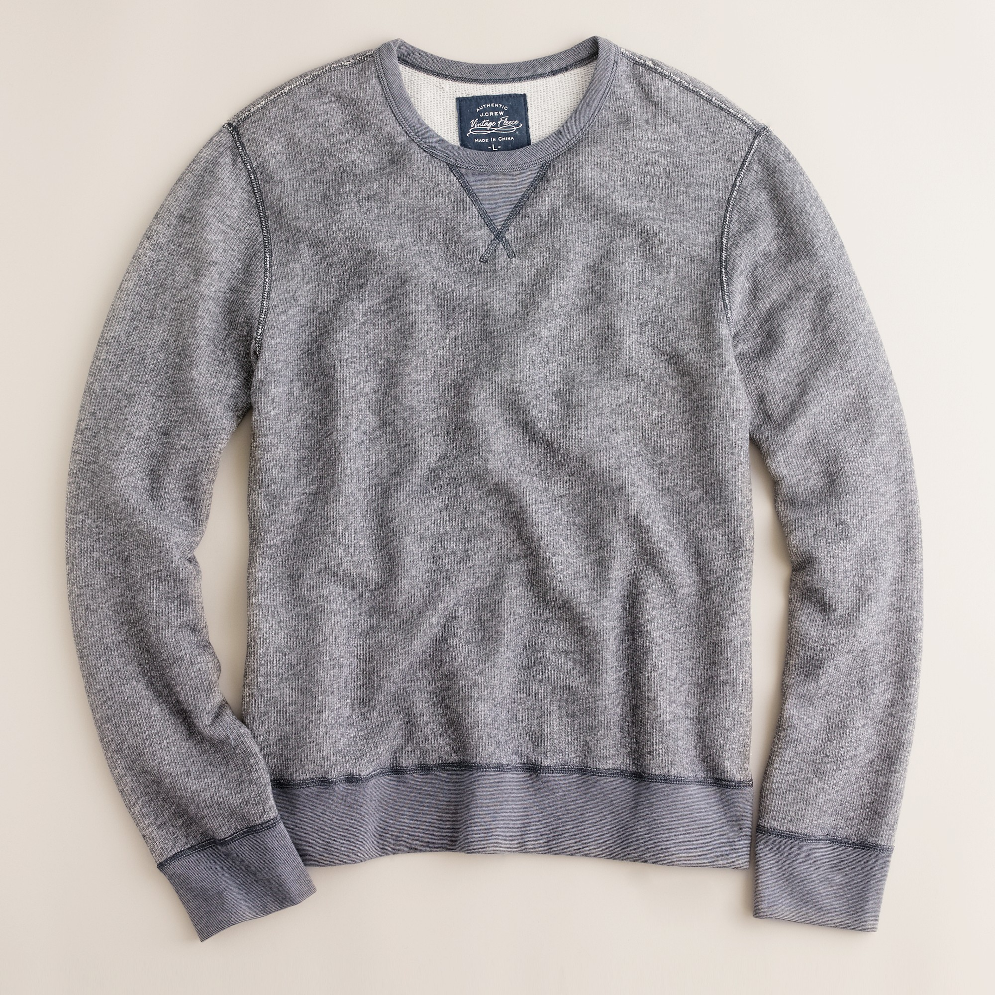 J.crew Marled Fleece Sweatshirt in Blue for Men | Lyst