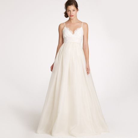 J.crew Principessa Gown in Lace and Organza in White - Lyst