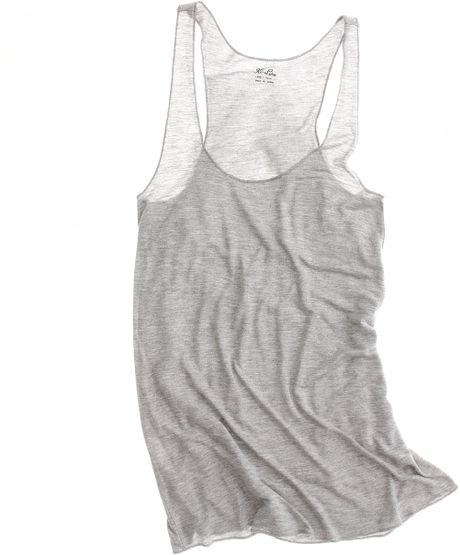 Madewell Perfect Racerback Tank in Gray (hthr smoke) - Lyst
