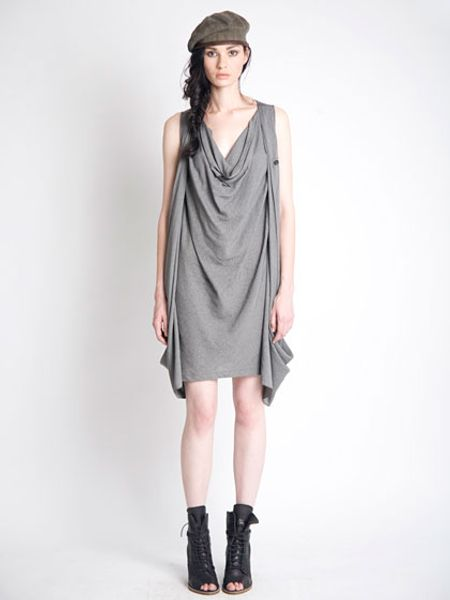 Nicholas K Rav Dress in Gray - Lyst
