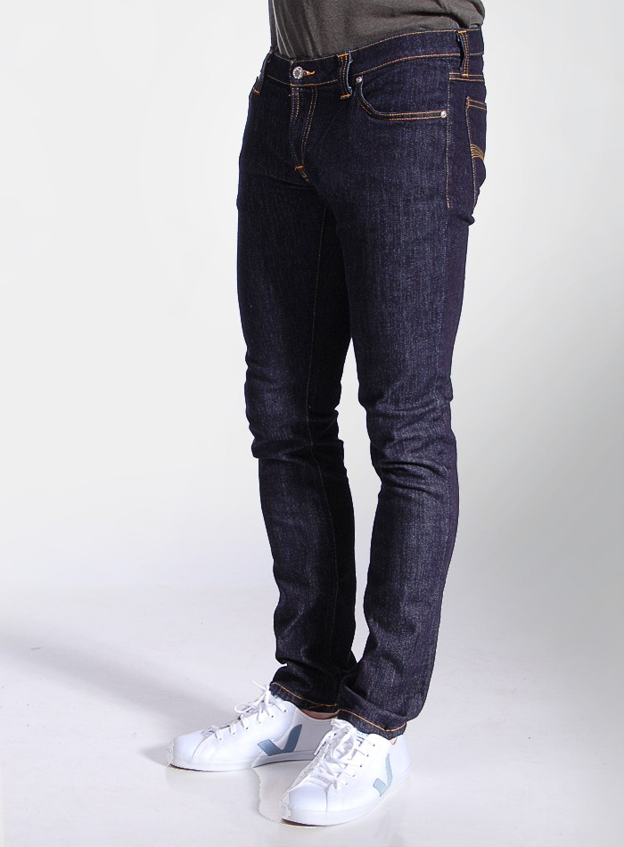 nudie jeans tight long john stretch jeans in blue for men. Black Bedroom Furniture Sets. Home Design Ideas