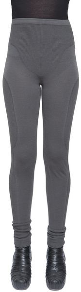 Rick Owens Legging Pants with Side Detail - Lyst