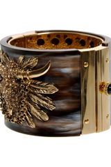 Roberto Cavalli Buffalo Bracelet in Brown - Lyst
