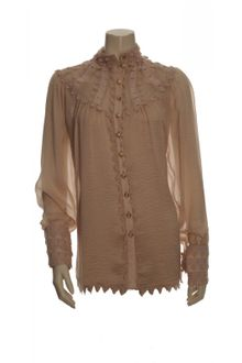 Temperley London Valencia Champagne Silk Blouse - Lyst