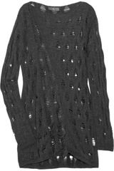 McQ by Alexander McQueen Shredded Knitted Sweater - Lyst