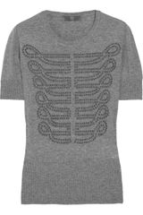 McQ by Alexander McQueen Studded Knitted Sweater - Lyst