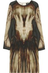 McQ by Alexander McQueen Phantom Print Silk Dress - Lyst
