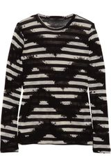 Proenza Schouler Tie-dye Striped Cotton-jersey Top - Lyst