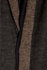 Y's Yohji Yamamoto Paneled Wool and Alpacablend Cardigan in Brown - Lyst
