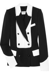 Yves Saint Laurent Two-tone Wool-blend Crepe Tuxedo Jacket - Lyst