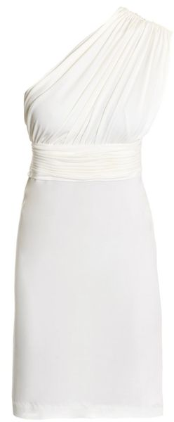 Halston Heritage Gathered One-shoulder Dress - Lyst