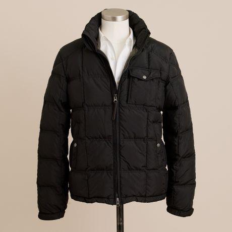 J Crew Alpine Goosedown Puffer Jacket In Black For Men Lyst