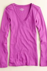 J.Crew Perfect-fit Long-sleeve V-neck Tee - Lyst