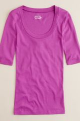 J.Crew Perfect-fit Scoopneck Tee - Lyst