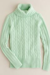 J.Crew Cambridge Cable Chunky Turtleneck Sweater - Lyst