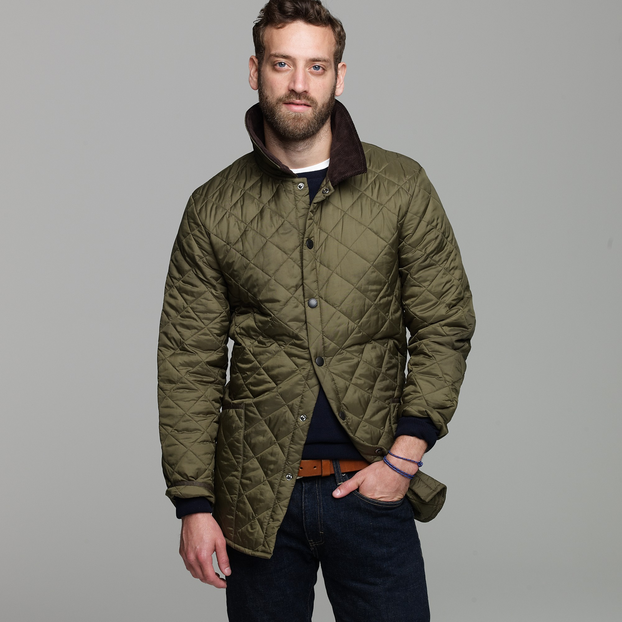 Lyst J Crew Barbour Liddesdale Jacket In Green For Men