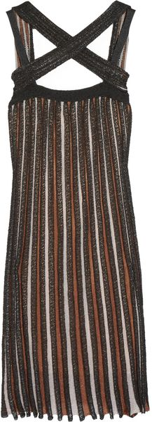 M Missoni Striped Knitted Dress - Lyst