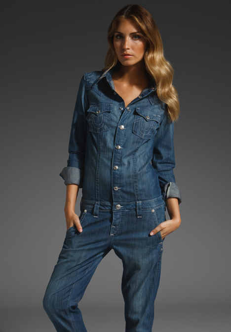 2b6fb98b9bbf True Religion Kara Jumpsuit In Blue