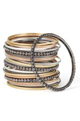 Cara Accessories Mixed Media Bangles (set Of 24) - Lyst