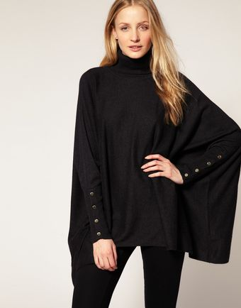 Ted Baker Button Sleeve Wool Poncho - Lyst