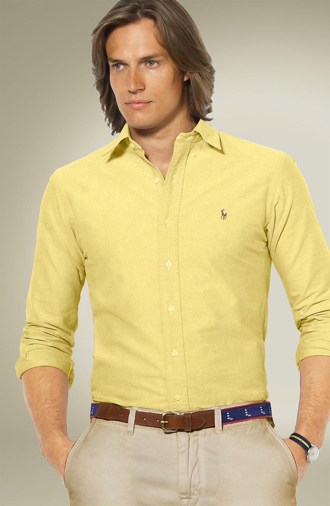 ralph lauren yellow oxford shirt w rtersee public relations