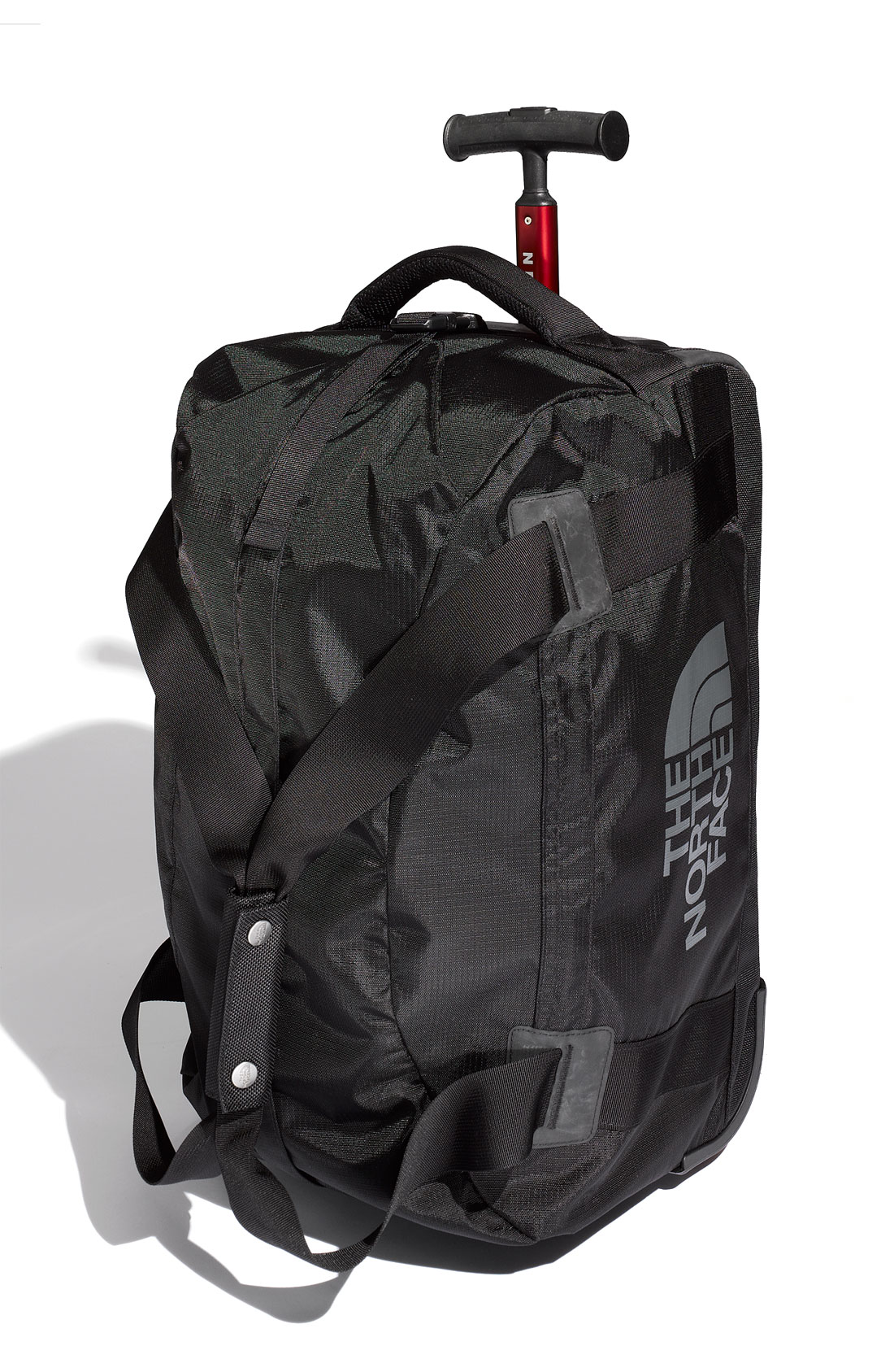 the north face wayfinder carry on wheeled duffel bag in. Black Bedroom Furniture Sets. Home Design Ideas