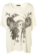 Topshop Chief Skull Tee By Workshop