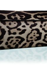 Alaïa Azzedine Alaia Grey Leopard Clutch in Gray (grey) - Lyst