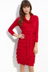 BCBGMAXAZRIA Miriam Cowl Neck Sweater Dress - Lyst