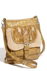 Big Buddha Faux Shearling Flap Crossbody Bag - Lyst