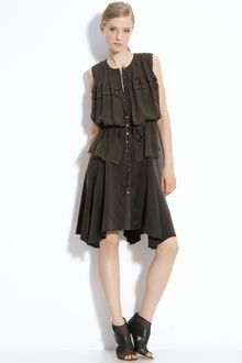 Edun Handkerchief Hem Silk Dress - Lyst