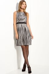 Milly Pleated Guiliana Dress - Lyst