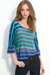 Splendid Gradient Stripe Top - Lyst
